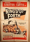 "1958 Kings Go Forth  Poster  Style ""A""  Frank Sinatra Tony Curtis"