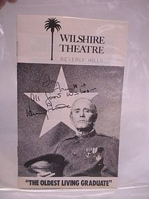 Henry Fonda autograph on a Play bill