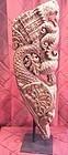 India teak temple carved bracket corbel