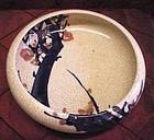 Antique Japanese Ikebana bowl with Cherry blossom Tree