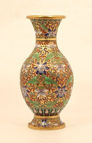 Fantastic Chinese Raised cloisonne vase with gold ground
