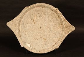 Antique Indian carved stone Chapatti Plate - Tray