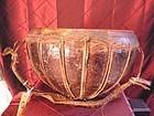Nepal antique copper leather drum
