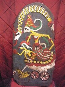 Indonesian Kris with Wayang figure board