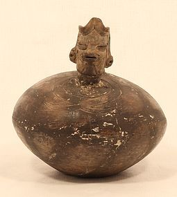 Peruvian Pre Columbian whistle pot