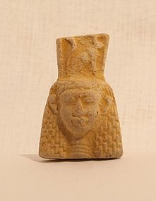 Egyptian Faience goddess pendant bead