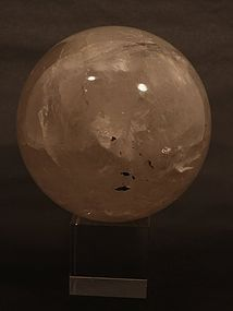 large Quartz Crystal sphere diameter is 6.5""