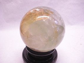 large Fluorite sphere in pale green