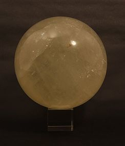 Huge Golden Green Selenite Sphere