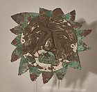 Pre Columbian Chimu style silver and copper Burial mask