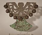 Peruvian Pre columbian style Moche silver grave bell