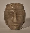 Pre Columbian alabaster stone mask