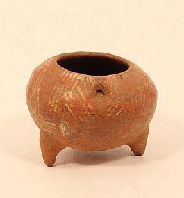 Costa Rican Pre Columbian Terracotta Tripod leg Pot