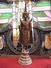 Antique Thai Bronze gilded standing Buddha statue