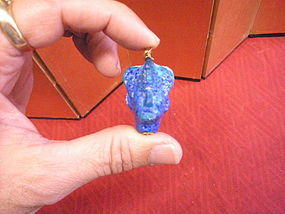 Ancient style Egyptian Pharaoh  paste Glass head pendant
