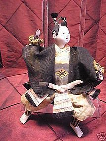 Antique 19th c Japanese Samurai doll