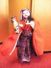 Meiji Dynasty folk story doll of a female Samurai the doll