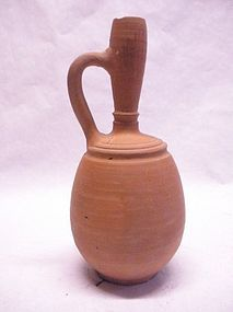 Ancient Roman or mediterranean  terracotta wine jug