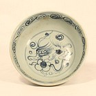Ming- Qing Dynasty blue and white porcelain bowl