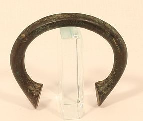 FRENCH SLAVE TRADE BRACELET C.1700-1800 Bronze