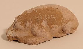 Han - Tang Dynasty Terracotta model of A Pig