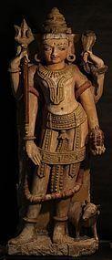 15th - 18th c Sandstone  Hindu Temple Shiva Sculpture