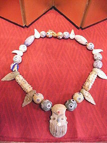 Phoenician Style Glass bead Necklace
