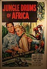 Original Lithograph Poster of The Jungle Drums Of Africa