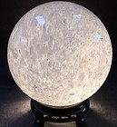 "Giant Quartz Sphere 12"" Diameter and over 65 pounds"