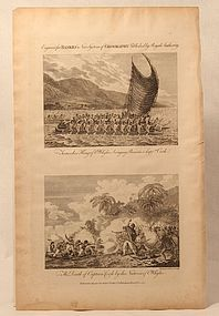 Capt Cook Terreeoboo Gifts and The Death of capt Cook c 1788