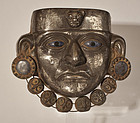 Moche Sheet silver and Sodalite Burial mask
