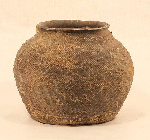 Chinese Warring States period impressed burial urn