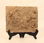Chinese Tomb Pottery Tile Probably Sung Dynasty