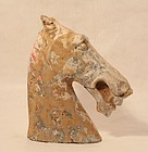 Large Han Dynasty Pottery Horse Head