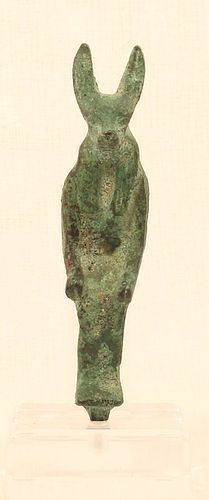 Seated Bronze Figure of Anubis On a throne Possibly period
