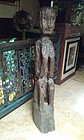 Early Primitive seated female bulul figure early 19th c