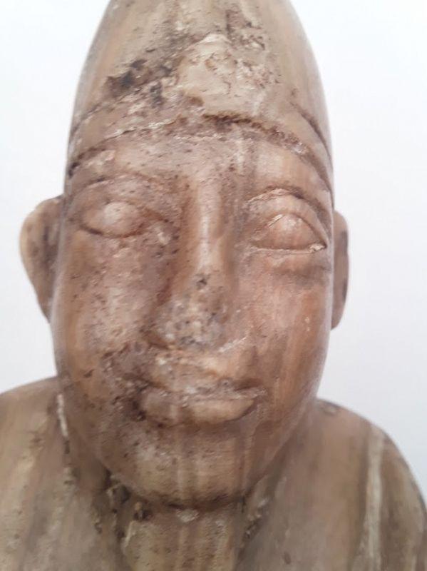 Egyptian Alabaster Carved Osiris Mummiform Figure