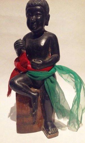 Vintage Thailand Deity figure in cast Resin