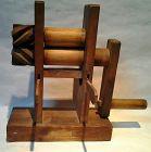 Antique Japanese Hand made wood Tobacco leaf Press Meiji Dynasty