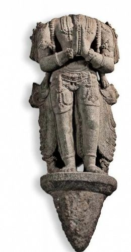 Hindu Chola Dynasty  Granite Figure of Agni  The Fire God