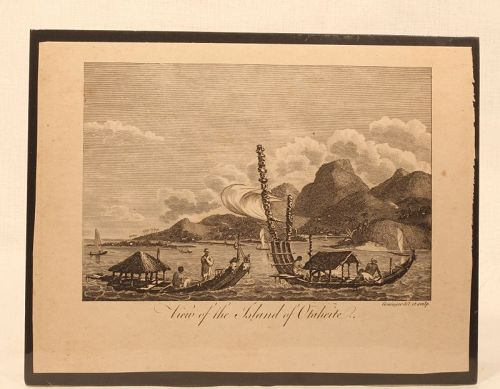 "C 1780 "" View of the Island of Otaheite"" Capt Wallis"