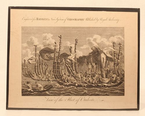 "c.1780 ""View of the Fleet of Otaheite"""