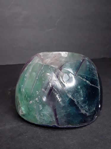 Fluorite green and purple Tea lite candle Votive