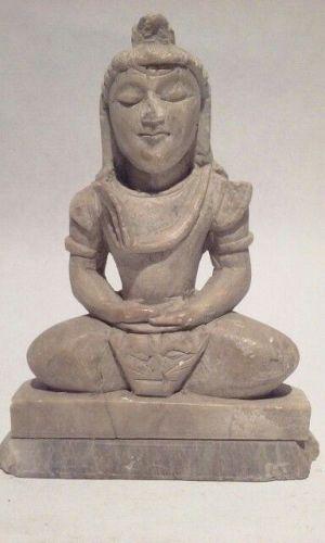Alabaster Hindu Figure of Shiva vintage Altar Piece