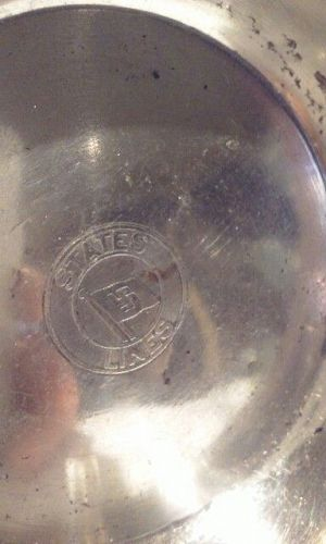 Sterling Dish From States Lines ocean liner Spy Ship