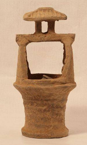 Han Dynasty Funerary model of a well with Roof