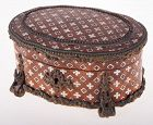 Antique French Napoleon lll Marquetry inlay wooden jewel casket