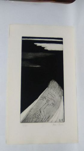 "Ben Zion "" The Life of A Prophet"" Etching I "" The call"""