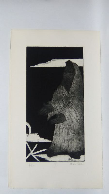 """Ben Zion """" The Life of A Prophet"""" Etching II """" FollowingThe call"""""""