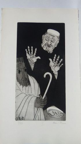 "Ben Zion "" The Life of A Prophet"" Etching X "" Facing The Judge"""